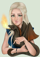 [VIDEO] GoT fanart - Dany and her dragon by Ravica