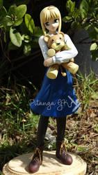 Saber with Teddy Bear by Bluudy