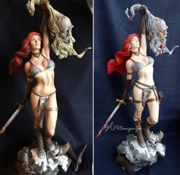 Repaint Red Sonja - Sideshow