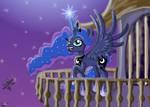Princess Luna rising the Moon