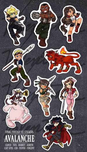 FF7: AVALANCHE Sticker Set by n-a-s-h-i