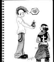 Punky-goth love by xxAlexaBlack