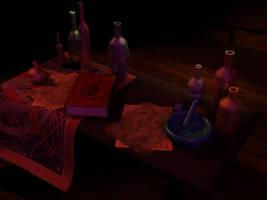 Alchemist Work table by xxAlexaBlack
