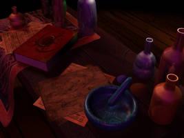 Alchemist Work table III by xxAlexaBlack