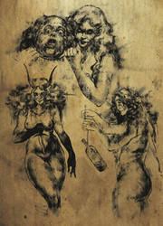 Sketches for Cultist Shub-Niggurath