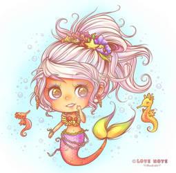 Cutie Mermaid by lovenotestudios