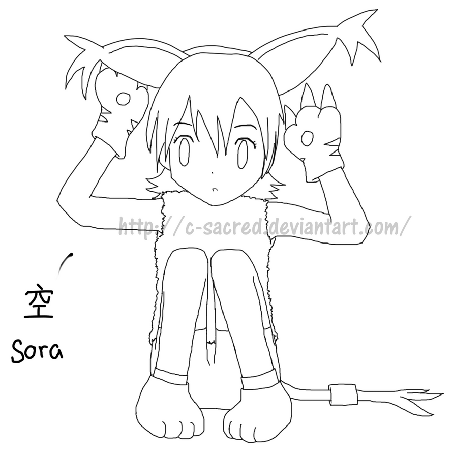 Line Drawing Ear : Tails and ears line art by c sacred on deviantart