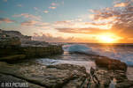 Maroubra Sunrise Cliff by arty-monster