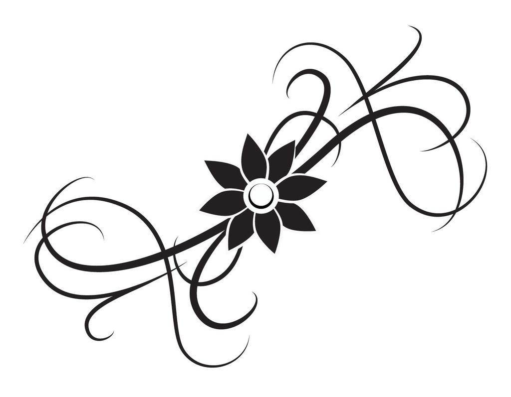 flower tattoo by menchix4 on deviantart. Black Bedroom Furniture Sets. Home Design Ideas