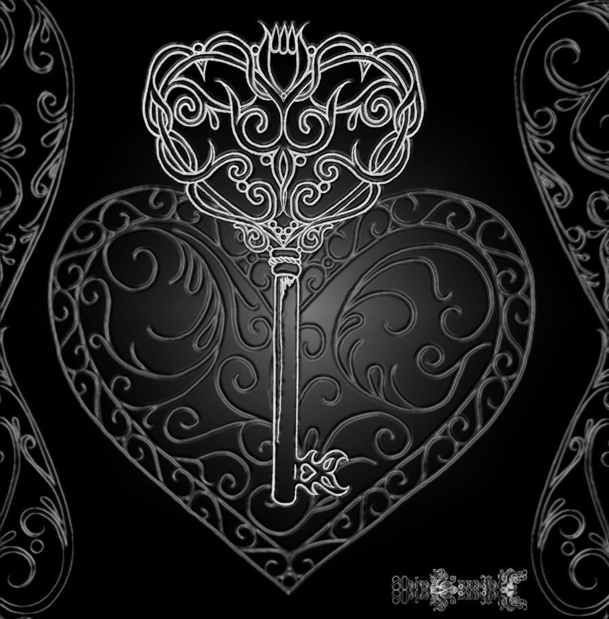 Gothic Heart Tattoos Key to my gothic heart by