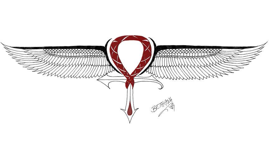 Winged Ankh Ver3 By Redlillith On Deviantart