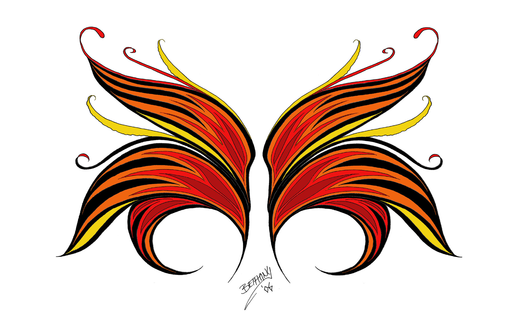 Wing Flame Fae