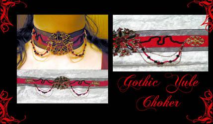 Gothic Yule Choker by redLillith