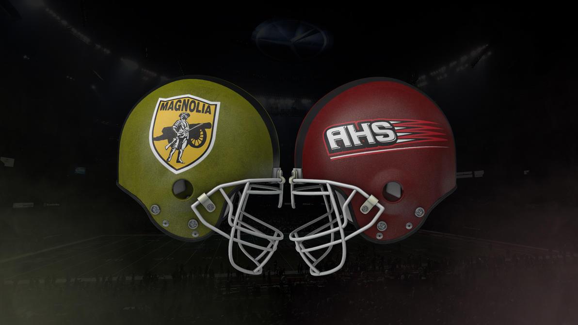 AHS vs Magnolia Football 3D art by rudykaya