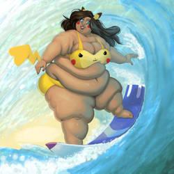 OC(?): Surfing Geekachu