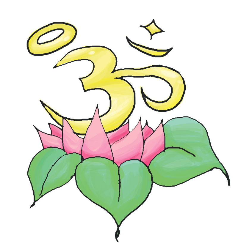 om Design Flower Lotus With om Tattoo Design by