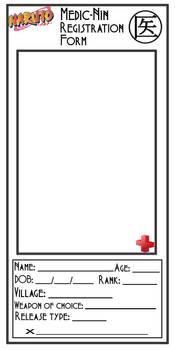 Medic-Nin Registration Form