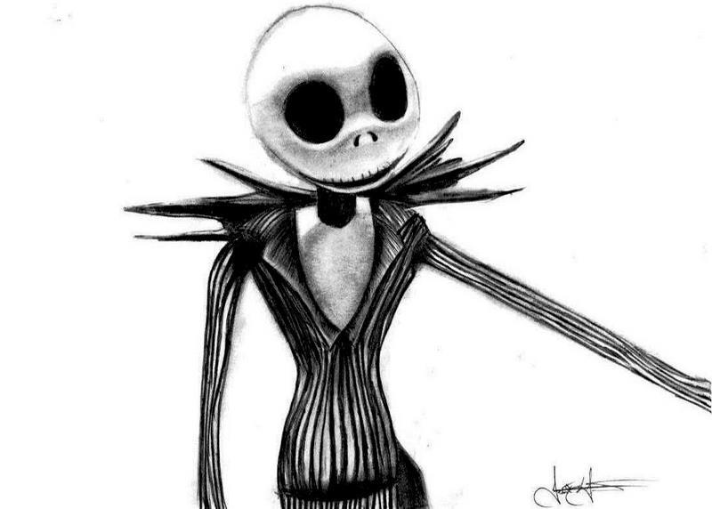Jack Skeleton Dibujos A Lapiz
