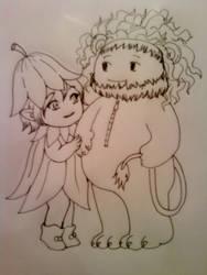 Picori and Lion by VenusinaMarciana
