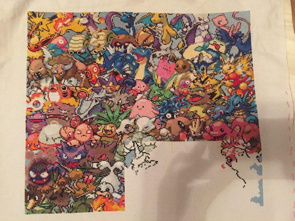 Generation One Epic Pokemon Cross Stitch-Update 2 by sydneyhicks111
