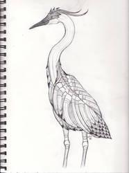 Pencil Bird by WhyteHawke