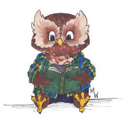 Owl Chibi by WhyteHawke