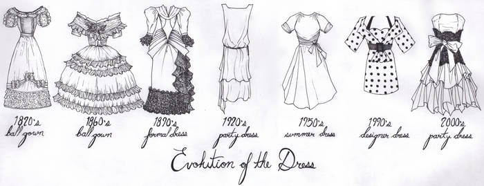 Evolution of the Dress by WhyteHawke