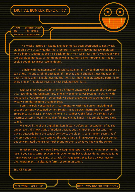 Digital Bunker Report #7 by sergeantdutch