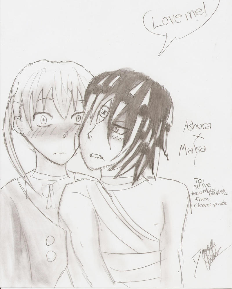 Love me . Asura X Maka by Cleaver-Pixels