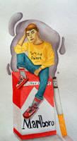 Cigerette Boy by TayaDrawsss
