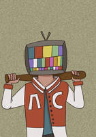 Tv Boy by TayaDrawsss
