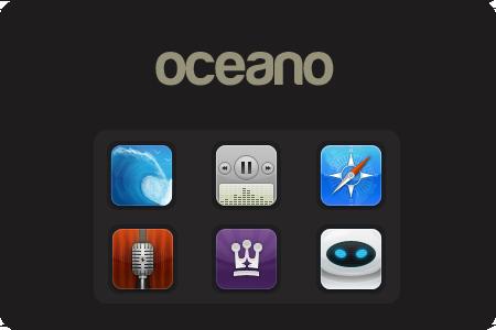 Oceano iPhone theme