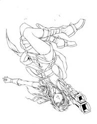 Lightning Somersault Inked by jpdans4