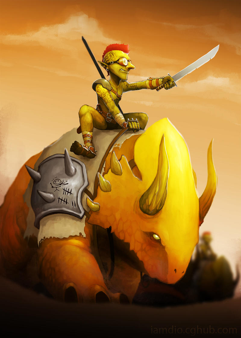 Commission: Goblin Rider by DioMahesa