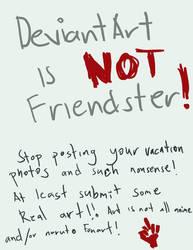 DA is NOT Friendster