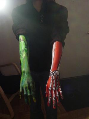 Two Hands Paint | Sage Body Paint | Marc Body Paint