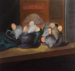 No more hungry mice, no more box of rice!