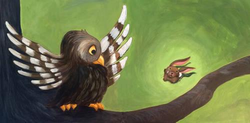 Clover and Owl by heatherlynnharris