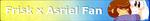 Undertale Fan Button Frisk x Asriel by ShootingStarYT