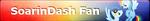 MLP SoarinDash Fan Button by ShootingStarYT