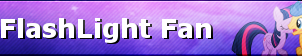 MLP FlashLight Fan Button by ShootingStarYT