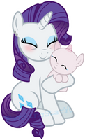 MLP Rarity and her Daugther/Son (OPEN Collab) by ShootingStarYT