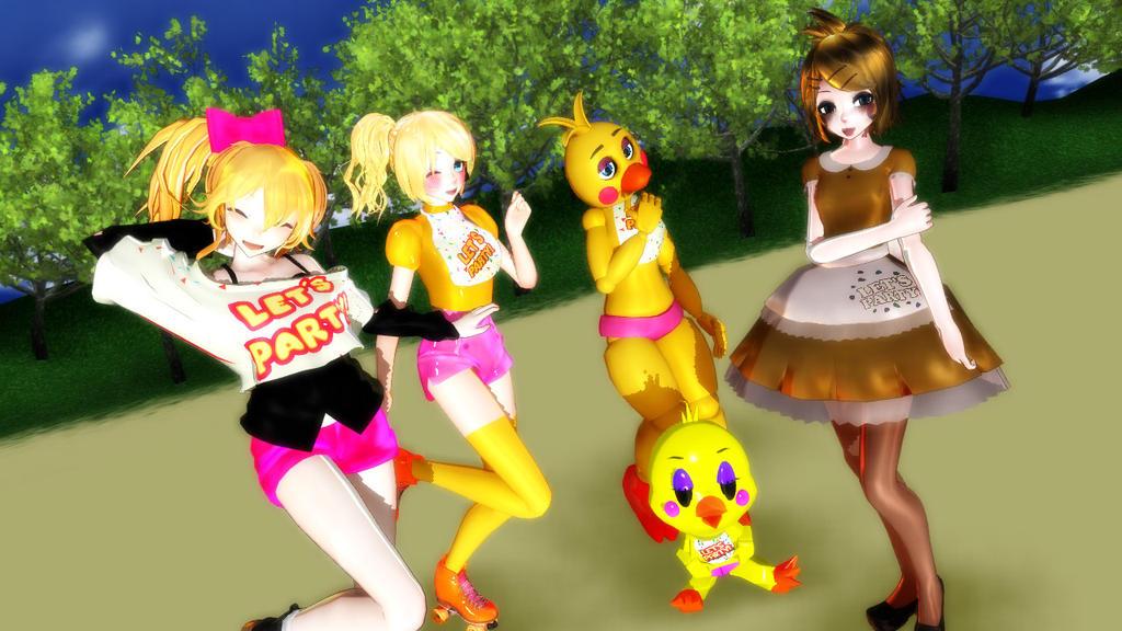 [MMD FNAF]Toy Chica Models Dem Moves By Likeman4 On DeviantArt