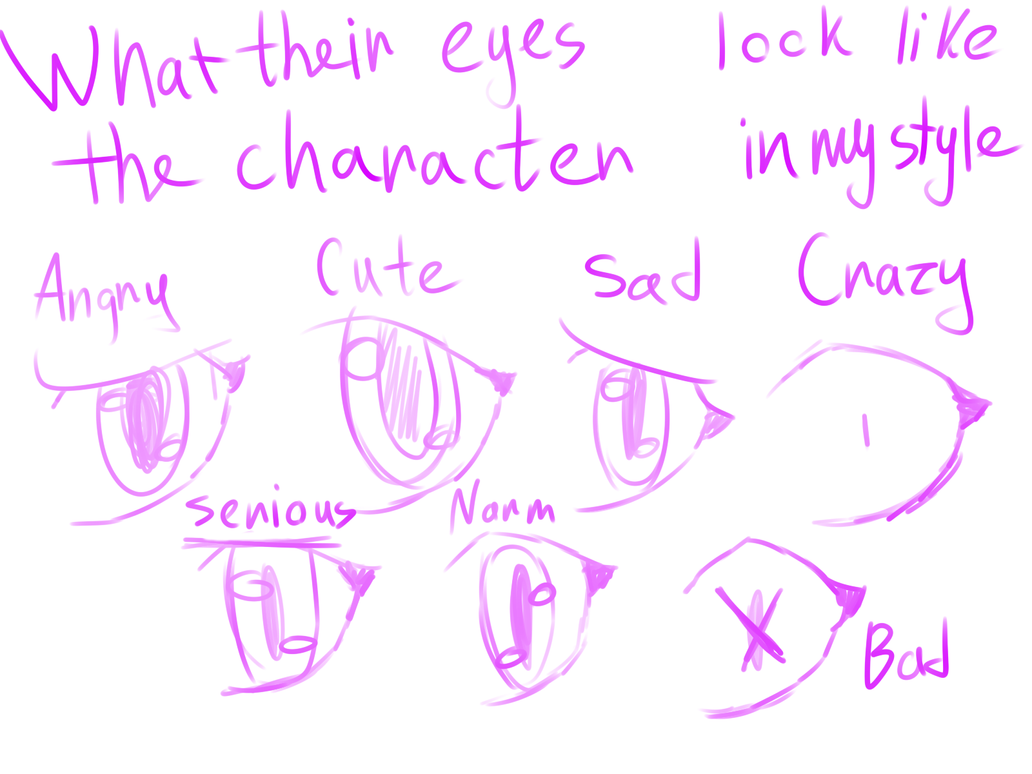 What their eyes look like the character in my styl by astya45