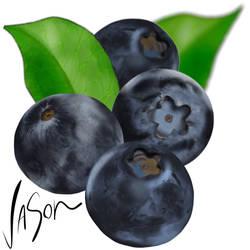 Blueberries by fordonfoodart