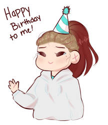 its my birthday a day late lmao by bananna108