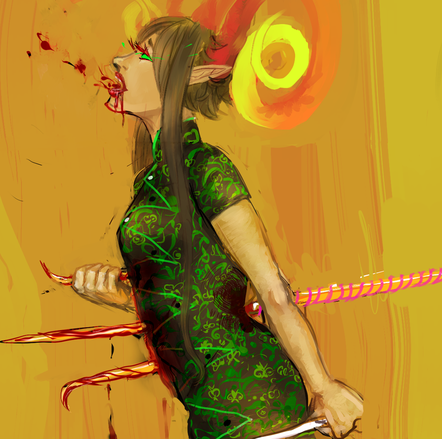 Handmaid sketch by alison-nyash