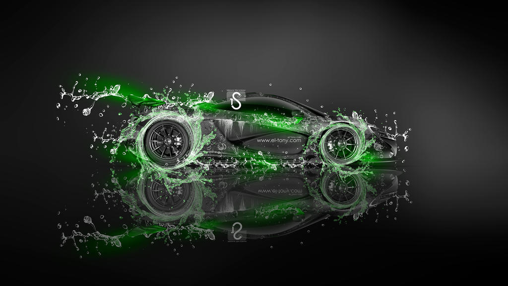 McLaren P1 Super Water Car 2013 Green Neon  ...