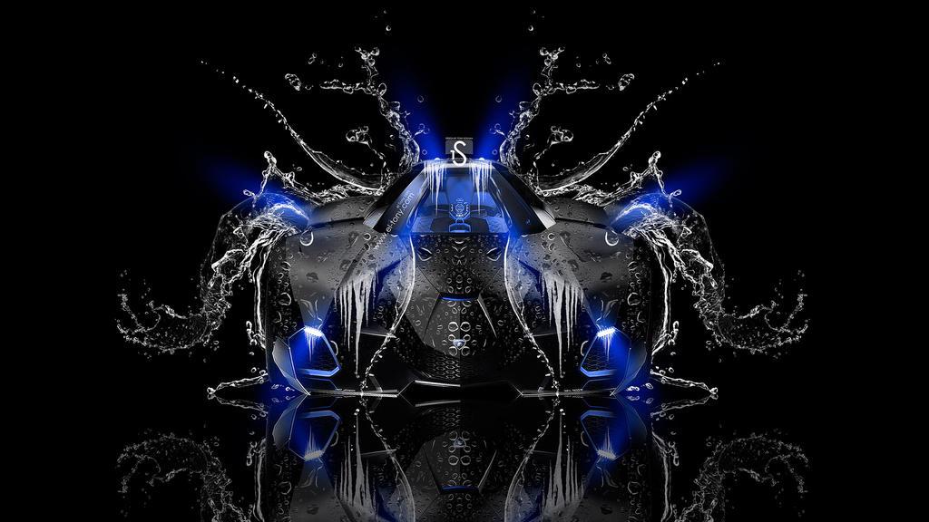 Lamborghini Egoista Front Water Car 2014 Blue Neon By ...