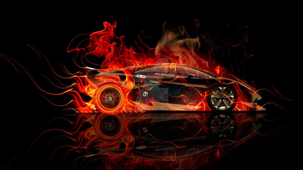 Umbreonfan5783 0 0 Lamborghini Sesto Elemento Side Fire Abstract Car  By  Umbreonfan5783